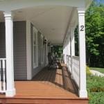 deck, siding, trim, gutters,
