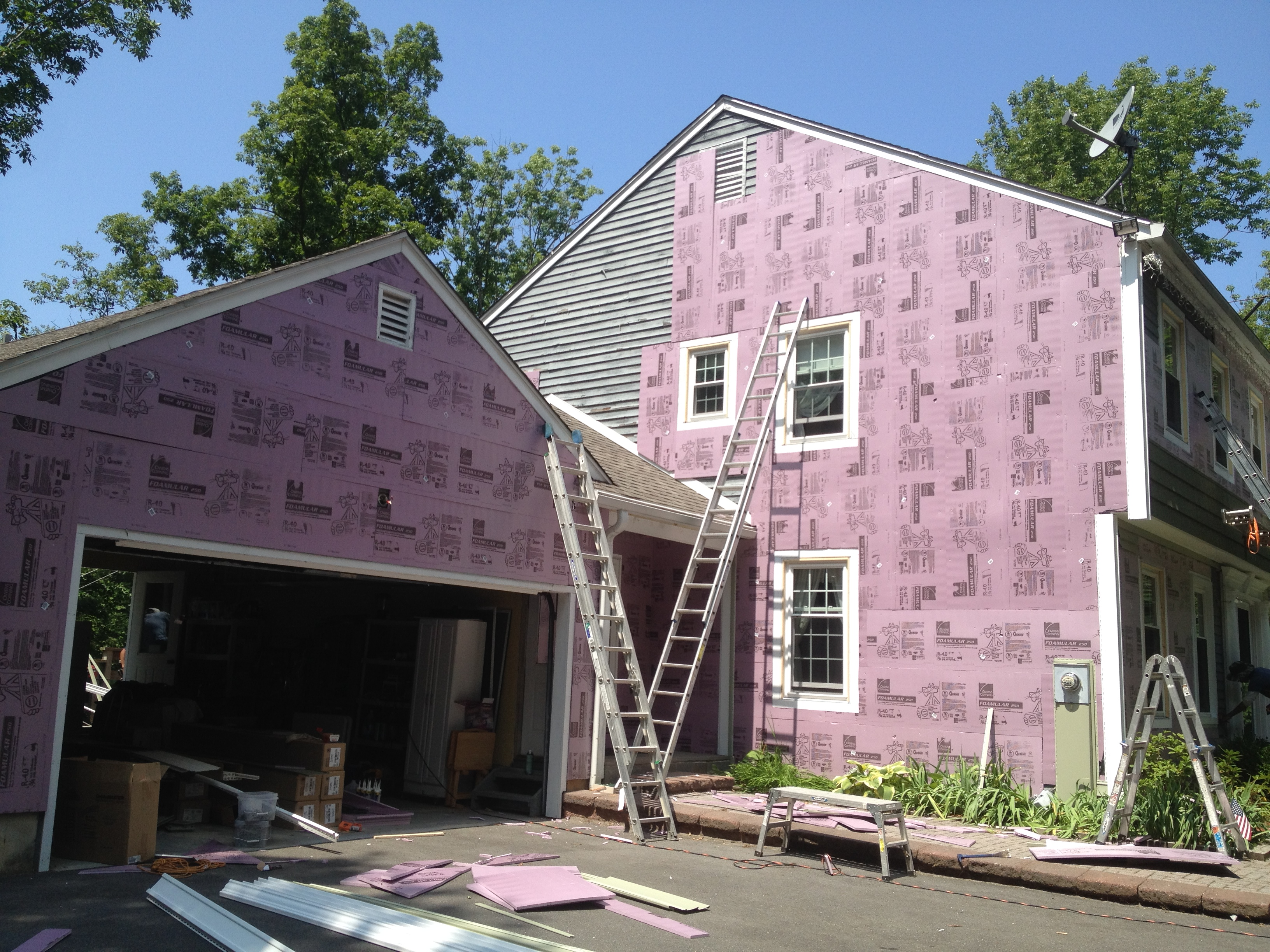 insulation, trim, siding, windows, labor, roofing