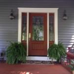 door, trim, siding, insulation