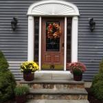 door, siding, insulation, stonework
